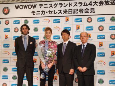 モニカ セレス来日 テニス4大会の魅力と錦織圭への期待を語る