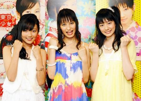 大政絢、岡本杏理、瓜生美咲、3人の美少女が登場 ,ドラマ『東京少女』会見