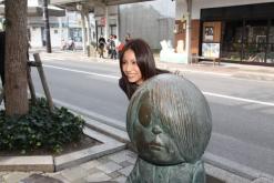 松下奈緒、境港の「水木しげるロード」でヒット祈願 - 『ゲゲゲの女房』