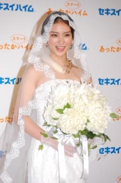 ウエディングドレスの武井咲
