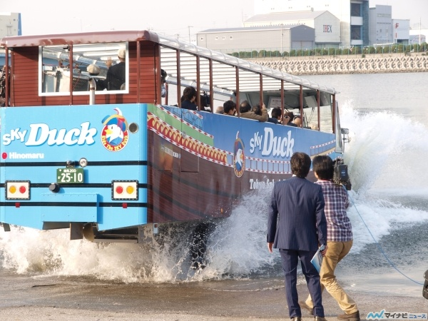 image:【レポート】東京初の水陸両用バス「スカイダック」に乗ってみた! (1) 気になる乗り心地は?