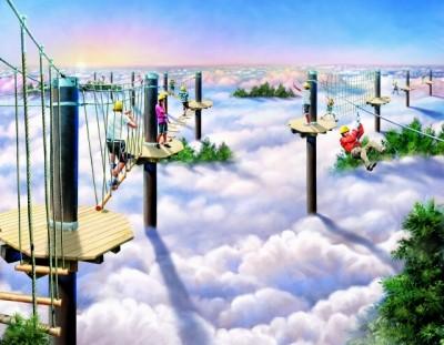最高8mの空中散歩。天狗の気分が...