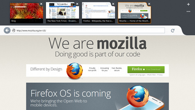 image:Mozilla、Windows 8向けのFirefox Metroプレビュー版を公開