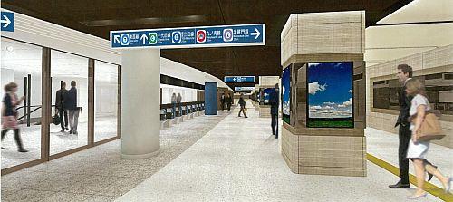 東京都・東京メトロ東西線大手町駅、西改札前広間の拡幅部分が供用開始へ