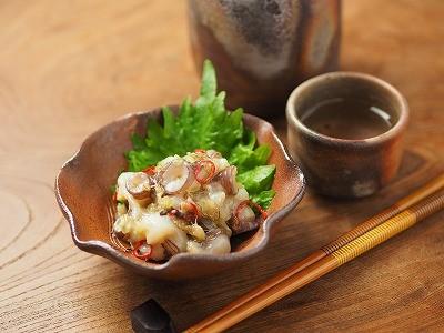 塩麹と納豆昆布で簡単たこわさ
