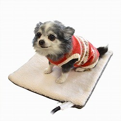ペット用ホットカーペット 温度調節可能 Lサイズの …