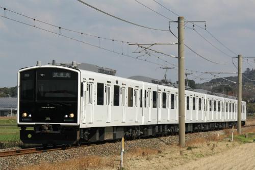JR九州305系、筑肥線新型車両が筑前前原〜唐津間走行