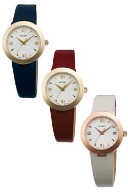 オリエント時計は、ファッションブランド「MOUSSY」(マウジー)から、レディスウオッチ「MOUSSYスタンダード  レザーモデル」を発売した。全4モデルを用意し、税別価格は