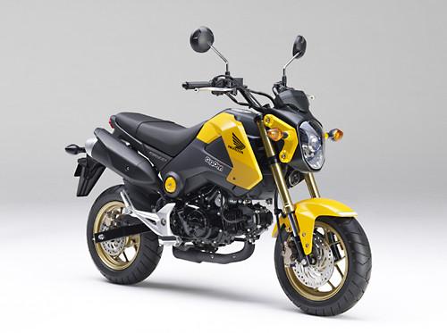 ホンダ、125ccスポーツモデル「グロム」のカラーリングを変更して発売