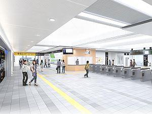 JR西日本、東海道本線茨木駅新駅舎のデザインを公開 - 完成予定は2018年春