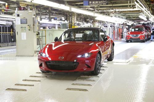 マツダ新型ロードスター、日本仕様車がついに本社宇品工場で生産スタート!