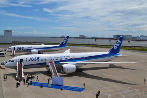 ANA、ボーイング787-9国際線仕様機を日本初受領