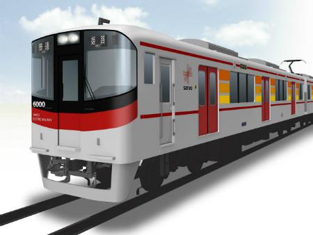 新型6000系の外観イメージ(画像はすべて山陽電気鉄道提供) 同社は兵庫県内に本線(西代~山陽姫