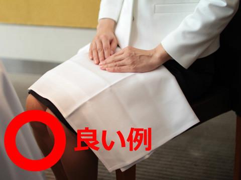 ナプキンは膝の上に置きます