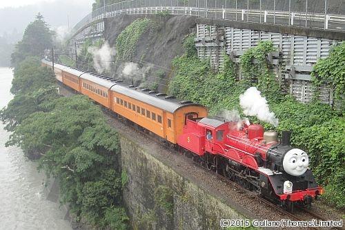 大井川鐵道「ジェームス号」7/11運転開始!モンクレール アウトレット ジャズドリーム 初日は「トーマス号」との並びも