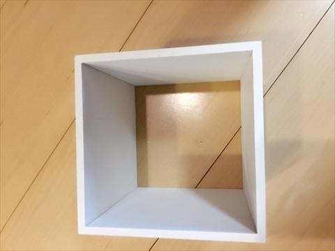 ナチュラルキッチンのキューブボックスでキッチンがカフェに