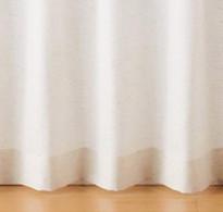ポリエステル綿ヘリンボーン(遮光性)プリーツカーテン/アイボリー 幅100×丈135cm コンビニ受取可