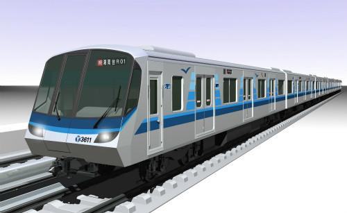 横浜市営地下鉄ブルーライン3000V形、約10年ぶりの新車が2017年春デビュー
