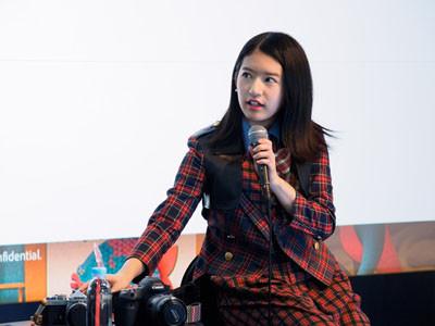 竹内美宥さん。愛機は5Dmark IVとFM3A 仕事と趣味、それぞれで写真を撮っている二人だが