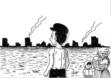 鉄拳テレ東ドラマ居酒屋ふじイラスト描く おやじの泣ける話表現