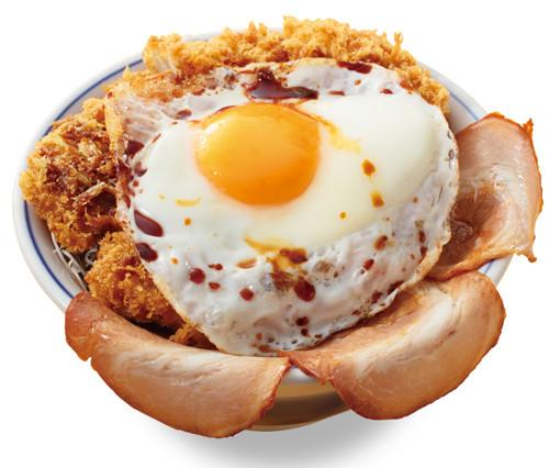 「チャーシューエッグチキンカツ丼」の画像検索結果