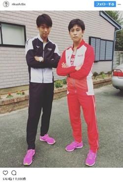 『陸王』竹内涼真\u0026佐野岳のライバル2ショットが「仮面ライダー対決」と話題
