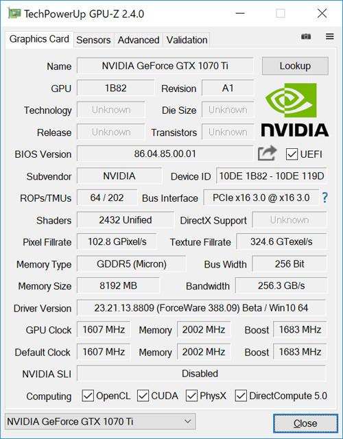 GeForce GTX 1070 Tiレビュー -1080と1070の間に割って入る