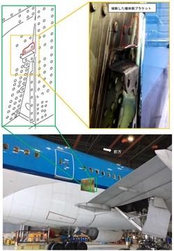 運輸安全委員会は11月8日、大阪市で9月23日に発生したKLMオランダ航空機の重大インシデントに関して、同社所属のPH-BQC(ボーイング777-200ER)にボルトの一部に誤部品が使用されていたなどの調査結果を公表した。