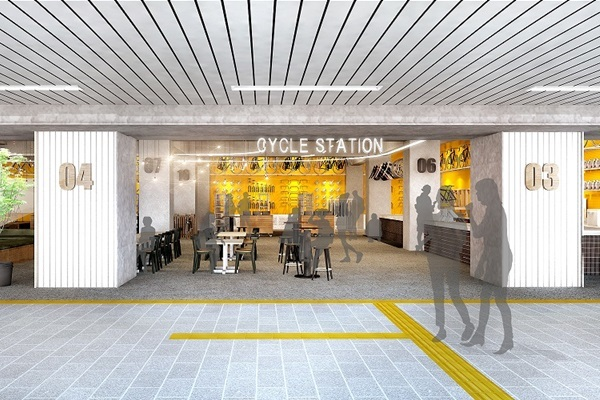 JR土浦駅ビル・ペルチ土浦が自転車リゾート「PLAYatre」に--ホテルも併設