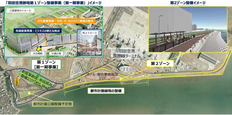 羽田空港跡地の整備イメージ