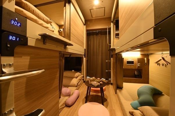 カプセルホテルで女子会!? 安心お宿が京都に誕生--無料サービスは200以上