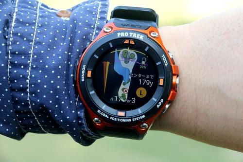 6fa7ca1500 ゴルフがぐんと楽しく - カシオのPRO TREK Smartと一緒にラウンドしてきた (2) 「HOLE19」で「距離を知る」ことの重要性    マイナビニュース