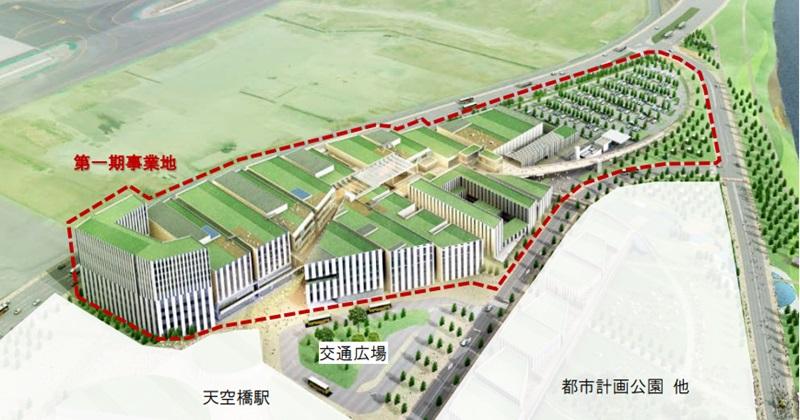 羽田空港跡地第1ゾーン2018年秋着工--天空橋駅直結でクールジャパンの発信も
