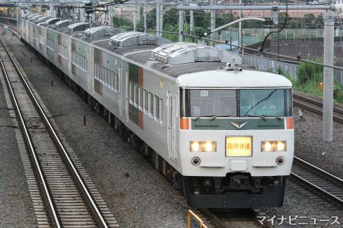 JR夏の臨時列車(2018)「ムーンライトながら」185系で夏休みに運行 ...
