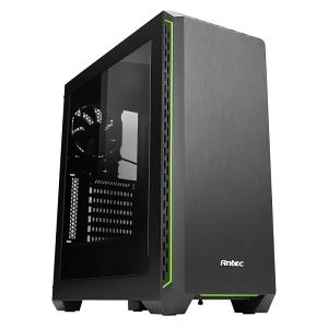 Antec製ミドルタワーケース、アクリルモデル「P7Window Green」