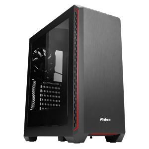 Antec製ミドルタワーケース、アクリルモデル「P7Window Red」