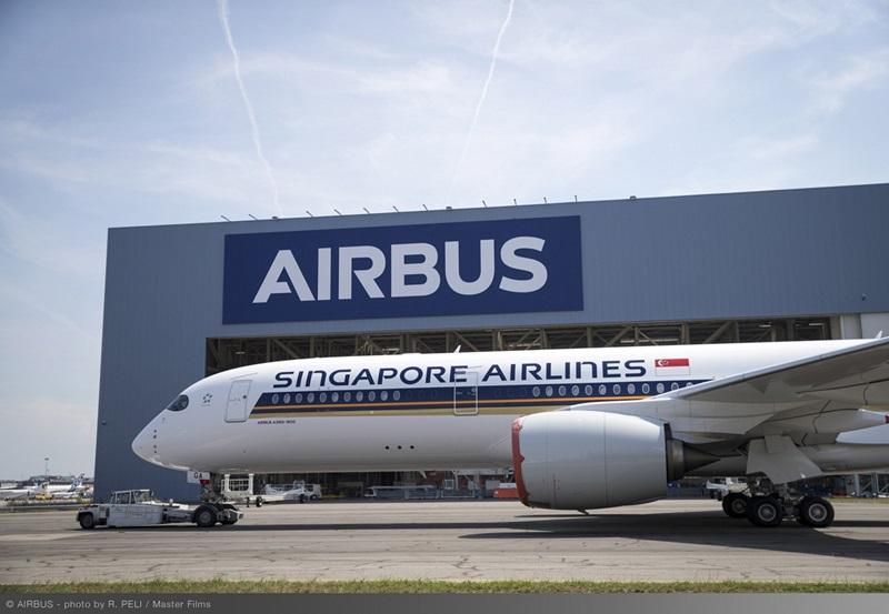 エアバスA350-900ULR初号機が塗装完了--シンガポール航空全7機は組立段階に