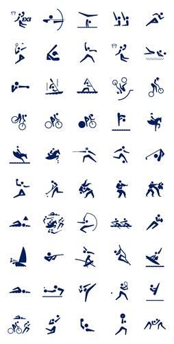 東京2020オリンピックスポーツピクトグラム「フリータイプ」一覧 (C)Tokyo 2020