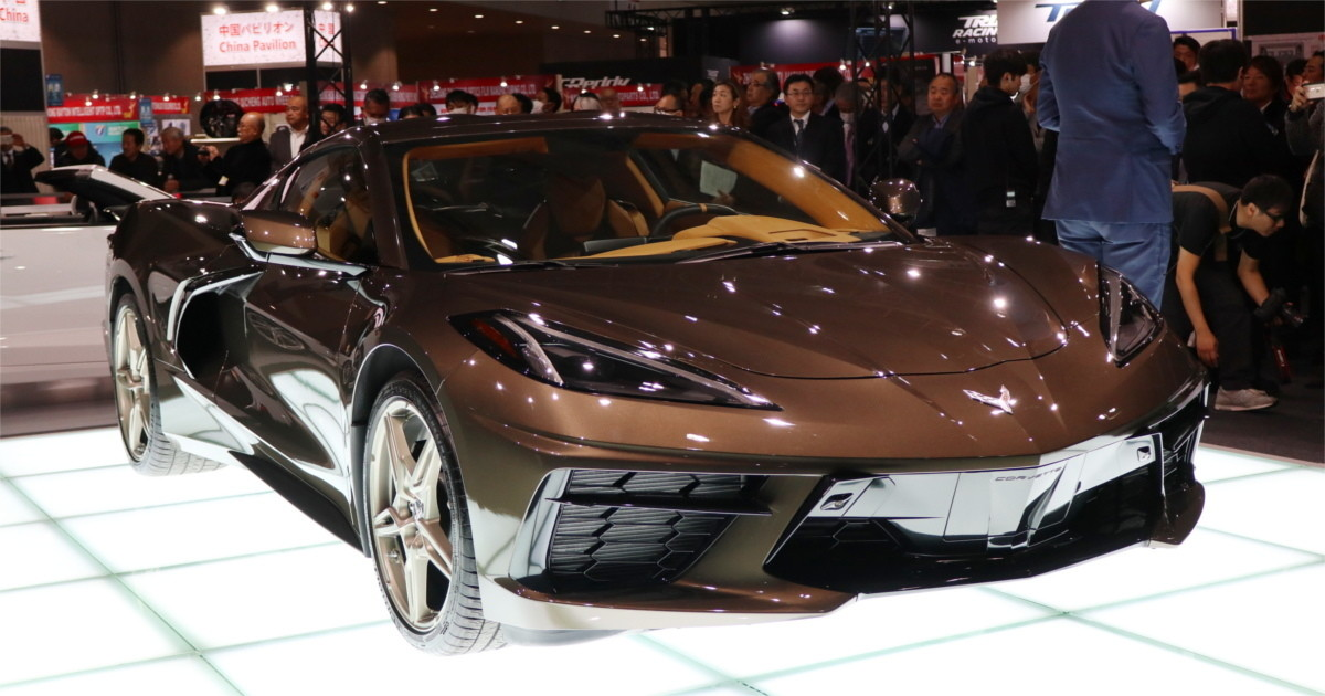 Photo of Chevrolet's new Corvette at Tokyo Auto Salon