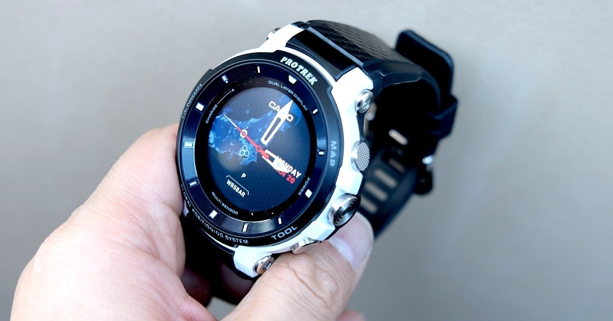 "Photo of Casio, outdoor smart watch ""PRO TREK Smart"" limited model"