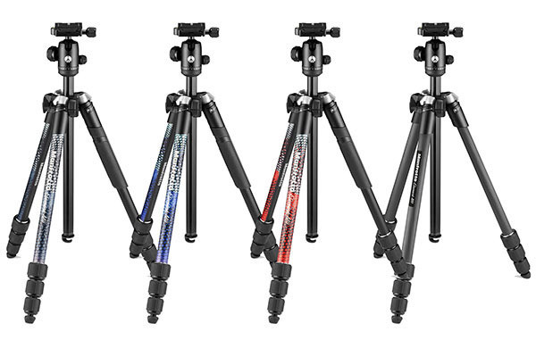 Photo of Travel tripod Manfrotto with smartphone accessories included as standard