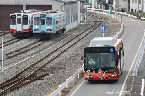 JR東日本、大船渡線BRT小友~盛間で5/11から日中時間帯に迂回運転 ...