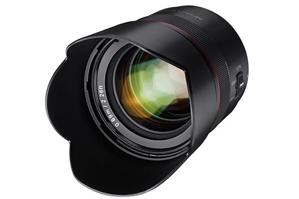 "Photo of Samyang, middle telephoto lens for Sony E-mount ""AF 75mm F1.8 FE"""