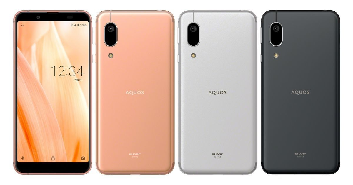 "Photo of au and UQ mobile release 4G smartphone ""AQUOS sense3 basic"" on June 19th"
