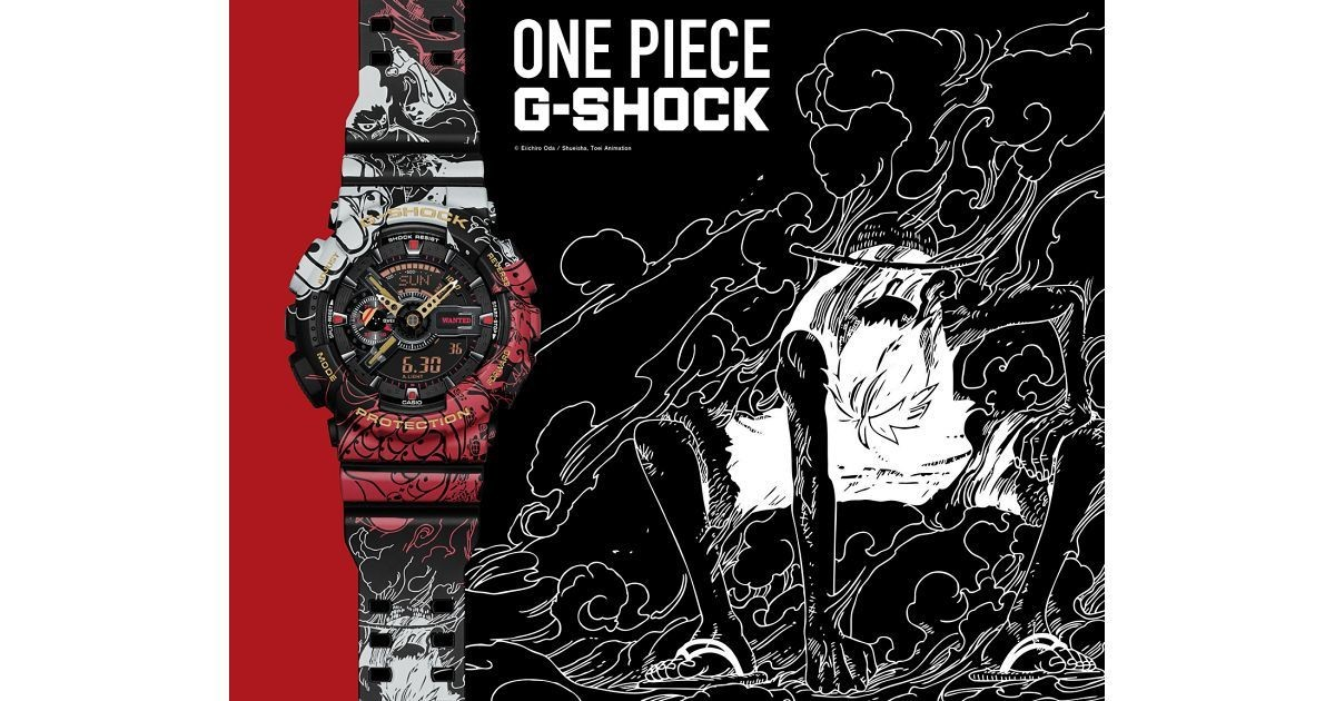 Photo of G-SHOCK x ONE PIECE, a collaboration model expressing the growth of Luffy