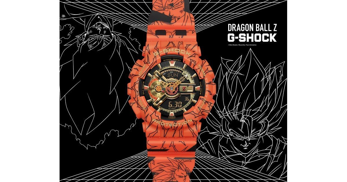 Photo of Big case collaboration depicting G-SHOCK x Dragon Ball Z, Son Goku and four-star sphere