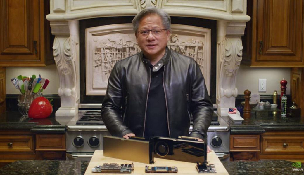 米国時間の10月5日に開幕、10月9日まで開催中のGPU Technology Conference 2020より。RTX A6000とA40を公開するNVIDIAのJensen Huang(ジェンスン・フアン) CEO