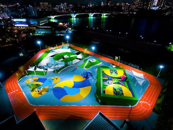 NIKEシューズデザインのスポーツパークが東京・新豊洲に登場 - 入場無料