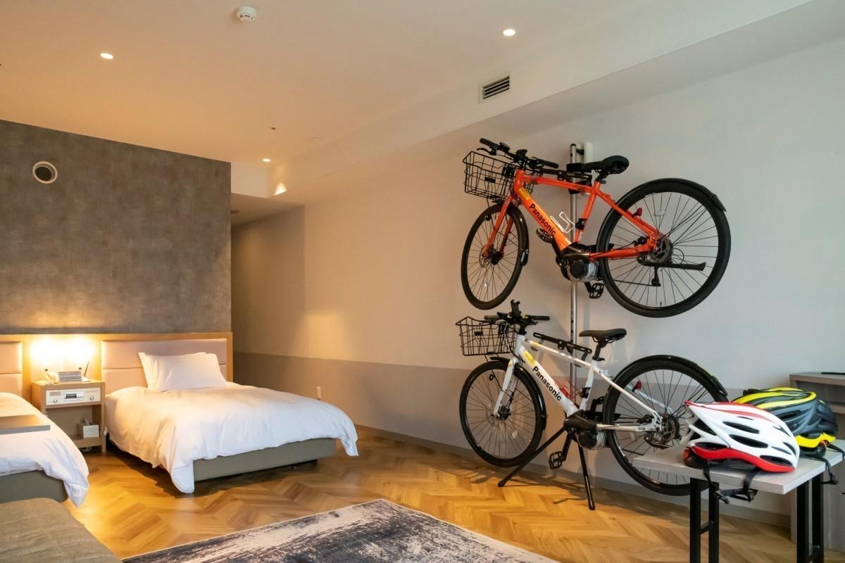 ホテルタングラムに「サイクリストルーム」登場 - 斑尾高原に「GIROグラベルバイクパーク斑尾」オープン!