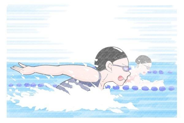 イラスト 平泳ぎ